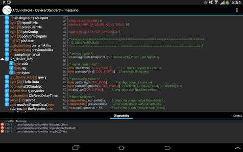 ArduinoDroid - Arduino / ESP8266 IDE Captura de pantalla