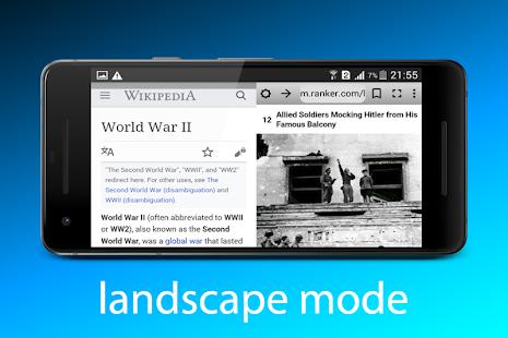 Navegador dual: captura de pantalla de Split Browser Pro