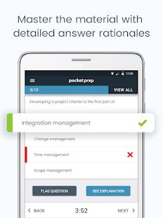 Captura de pantalla de PMP Pocket Prep