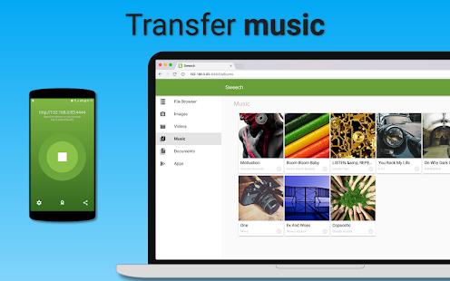 Sweech - Captura de pantalla de transferencia de archivos Wifi