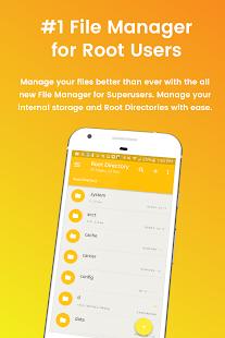 Captura de pantalla del Administrador de archivos para superusuarios
