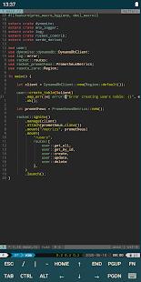 JuiceSSH - Captura de pantalla del cliente SSH