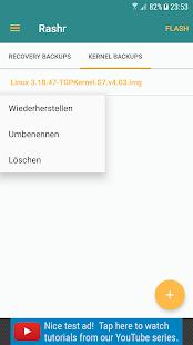 [ROOT]  Rashr - Captura de pantalla de la herramienta Flash