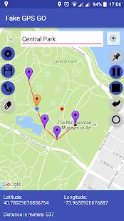 Captura de pantalla falsa de GPS GO Unite