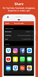 Videoshop - Captura de pantalla del editor de video