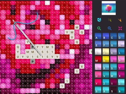 Captura de pantalla de punto de cruz