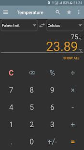 Unit Converter Calculator Pro Captura de pantalla