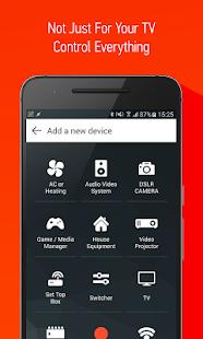 Control remoto por infrarrojos inteligente: captura de pantalla de AnyMote
