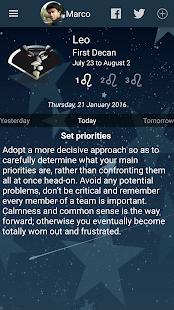 Captura de pantalla de mi horóscopo