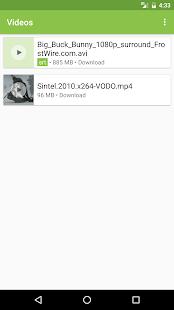 Captura de pantalla completa del Subcargador