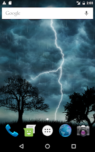Captura de pantalla de Live Storm Pro Wallpaper