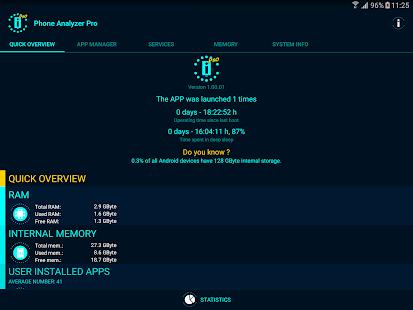 Captura de pantalla de Phone Analyzer Pro