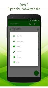 PDF a Excel - Convertidor de archivos PDF con captura de pantalla de OCR