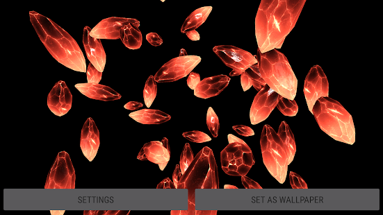 Crystals Particles 3D Live Wallpaper Captura de pantalla