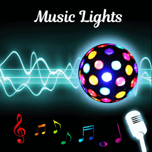 Luz musical: captura de pantalla con linterna, luz estroboscópica y visualizador musical