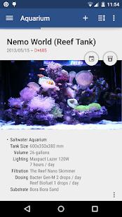 Captura de pantalla de la nota del acuario