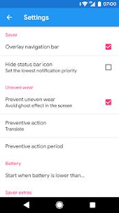Pixel OFF Ahorra batería Captura de pantalla AMOLED