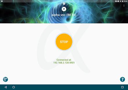 Captura de pantalla de alpha vnc lite