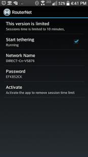 RouterNet - [root] Captura de pantalla de conexión wifi