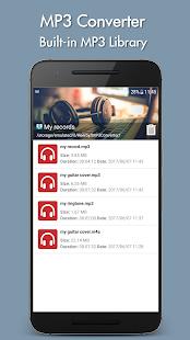 Captura de pantalla del convertidor MP3