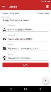 Password Manager +: Copia de seguridad en la nube y captura de pantalla de huellas dactilares