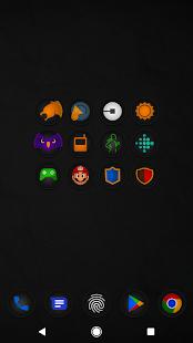 Captura de pantalla del paquete de iconos Stealth