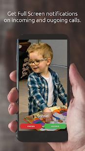 Captura de pantalla del identificador de llamadas en pantalla completa