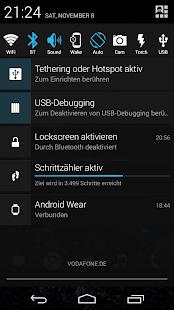 Captura de pantalla de cambio de notificación