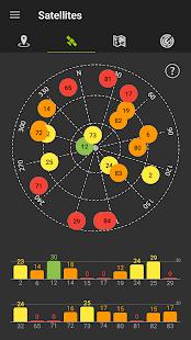 Captura de pantalla de datos GPS
