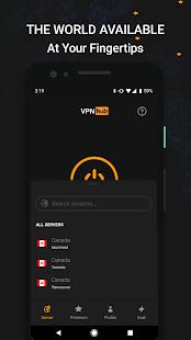VPNhub La mejor VPN ilimitada gratuita: captura de pantalla de proxy WiFi seguro