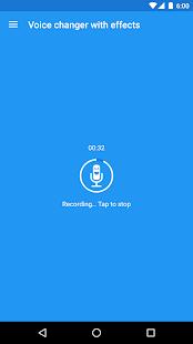 Cambiador de voz con efectos Captura de pantalla