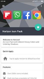 Captura de pantalla del paquete de iconos de Horizon