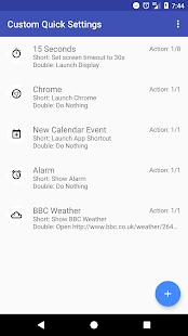 Captura de pantalla de configuración rápida personalizada