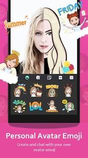 Teclado GO - Captura de pantalla de emojis, temas y GIF lindos