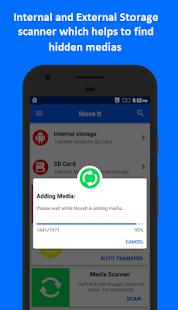 MoveIt: Mover medios a la captura de pantalla de la tarjeta SD