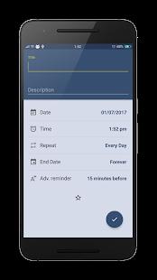 Captura de pantalla de Reminder Pro