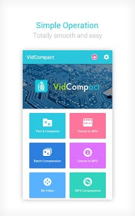 Convertidor y compresor de video a MP3 - Captura de pantalla de VidCompact