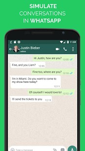 Captura de pantalla de WhatsFake Pretend Fake Chats