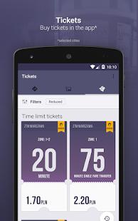 Jakdojade: captura de pantalla del transporte público