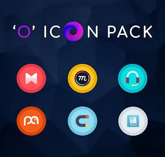 Captura de pantalla del paquete de iconos de Android O