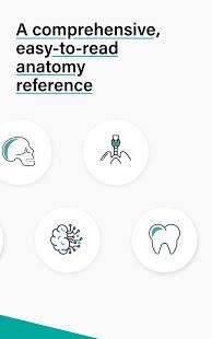 Enséñame anatomía: captura de pantalla de cuestionarios clínicos y del cuerpo humano en 3D