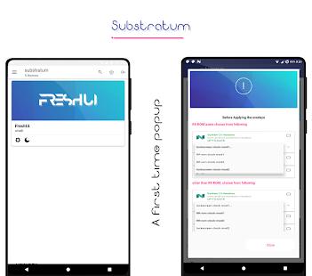 Captura de pantalla del tema FreshUi Light Substratum
