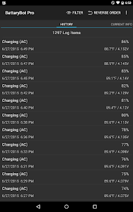 Captura de pantalla de BatteryBot Pro