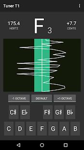 Captura de pantalla del sintonizador T1