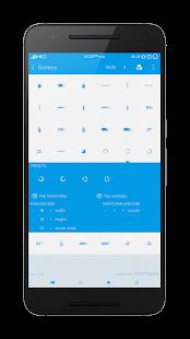 Captura de pantalla de los indicadores de barra de estilo plano