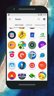 Oreo 8 - Captura de pantalla del paquete de iconos