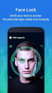 IObit Applock: captura de pantalla de Face Lock y Fingerprint Lock 2019