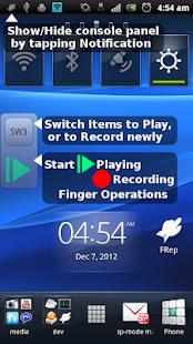 FRep - Captura de pantalla del reproductor de dedos