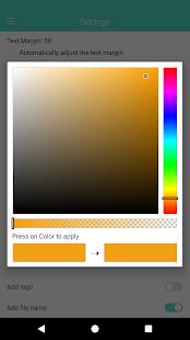 Captura de pantalla de la marca de tiempo automática de la cámara