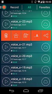 Grabadora de voz - Captura de pantalla del dictáfono